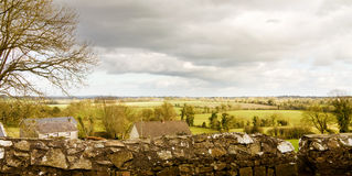 View of the green fields of Ireland from Tara Hill Royalty Free Stock Photo