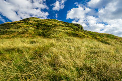 View of green hills in Edinburgh Stock Photo
