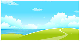 The view of Green landscape Royalty Free Stock Images