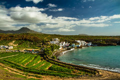 View on Green Shore of Atlantic Ocean-Tenerife Royalty Free Stock Image