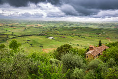 View of a green valley in Montepulciano Royalty Free Stock Images