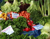 View of greengrocer Royalty Free Stock Images