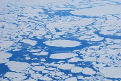 The glaciers and mountains of Greenland, view from a plane royalty free stock images