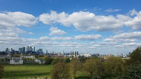 A look at london. View from the greenwhich observatory Stock Images
