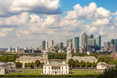 View from Greenwich hill, London Royalty Free Stock Image