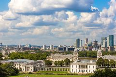 View from Greenwich hill, London Stock Images