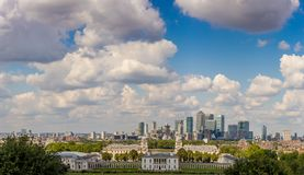 View from Greenwich hill, London Royalty Free Stock Photos