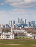 Greenwich Park and Canary Wharf, London Stock Images