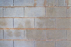 View of a grey brick wall. Background image Stock Image