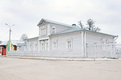 View of a grey wooden house. Royalty Free Stock Photography