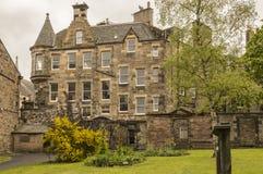 A view from Greyfriars Kirkyard. In spring, Edinburgh, Scotland Royalty Free Stock Images