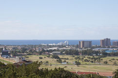 View of Greyville Racecourse and Royal Durban Golf Club Royalty Free Stock Images