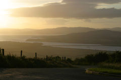 View From An Grianan. Sunset view in County Donegal Ireland Royalty Free Stock Photos