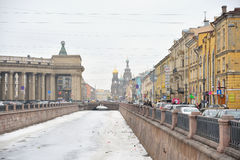 View of Griboyedov Canal in St Petersburg. Royalty Free Stock Photo