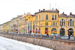 View of Griboyedov Canal in St Petersburg. Royalty Free Stock Photos