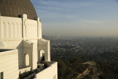 View from Griffith observatory. Royalty Free Stock Image