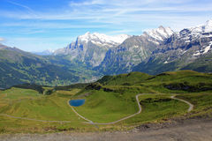View at Grindelwald with mountains in Switzerland Stock Image