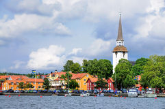View on Gripsholm Village, Sweden Royalty Free Stock Photos