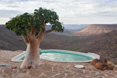 View from Grootberg Plateau, Namibia royalty free stock photo