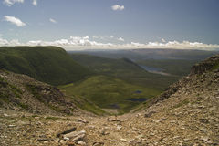 View from Gros Morne Mountain. From Gros Morne National Park, Newfoundland Stock Images