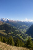 View From Grossglockner High Alpine Road Down Into The Valley Royalty Free Stock Photo