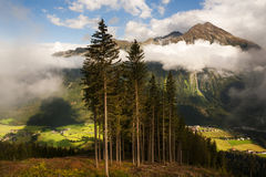 View from the Grossglockner Strasse, Austria Royalty Free Stock Photography