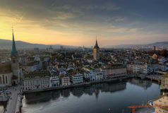 View from Grossmuenster. Z�rich, Switzerland Royalty Free Stock Photo