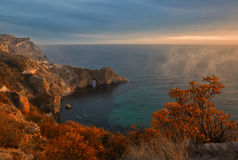 View of the Grotto of Diana in the evening light Royalty Free Stock Photography