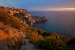 View of the Grotto of Diana in the evening light Stock Photography