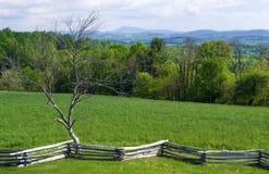 View from Groundhog Mountain - Blue Ridge Parkway, Virginia, USA. Floyd County, Virginia USA - May 19: View of Buffalo Mountain from Groundhog Mountain picnic royalty free stock image