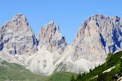 View of the group's sassolungo in the dolomites trentino Italy europe Royalty Free Stock Images