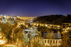 View on Grund and abbey in Luxembourg Royalty Free Stock Image