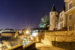 View on Grund and abbey in Luxembourg Royalty Free Stock Photography