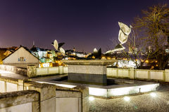 View on Grund and abbey in Luxembourg Stock Images