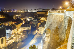 View on Grund in Luxembourg stock images