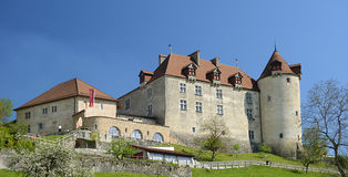 View on Gruyeres castle Stock Photo
