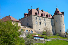 View on Gruyeres castle, Switzerland Stock Image
