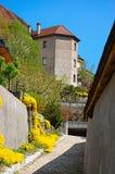 View on Gruyeres castle, Switzerland Stock Images