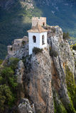 View on guadalest castle Royalty Free Stock Images