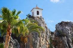 View on guadalest castle Stock Photo