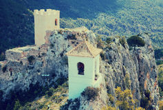 View on guadalest castle Royalty Free Stock Photo