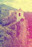 View on guadalest castle Stock Photography