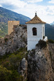 View on guadalest castle Stock Images