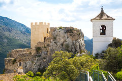 View on guadalest castle Royalty Free Stock Photos