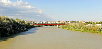 View of the Guadalquivir River in Cordoba, Spain Royalty Free Stock Images
