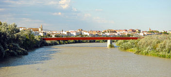 View of the Guadalquivir River in Cordoba, Spain Royalty Free Stock Image