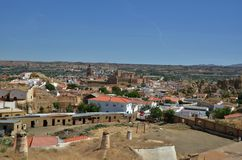 View of Guadix city with Alcazaba - Spain Stock Photography