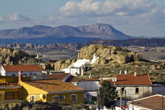 View of Guadix and Sierra de Baza Royalty Free Stock Photos