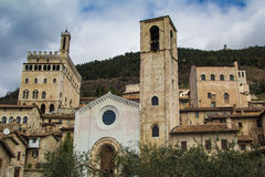 A view of Gubbio in Umbria Royalty Free Stock Photos