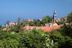 View of Gudhjem on Bornholm Stock Photos